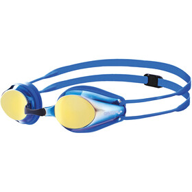 arena Tracks Jr Mirror uimalasit Lapset, blueyellowrevo-blue-blue